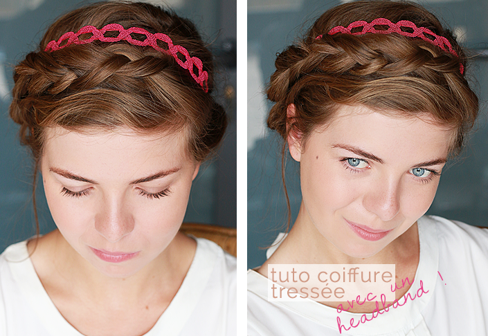 coiffure romantique avec un headband, comment porter un