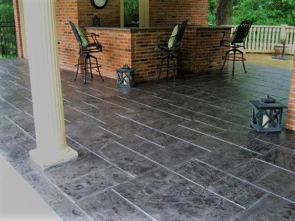 check out this gorgeous stamped concrete patio you too can