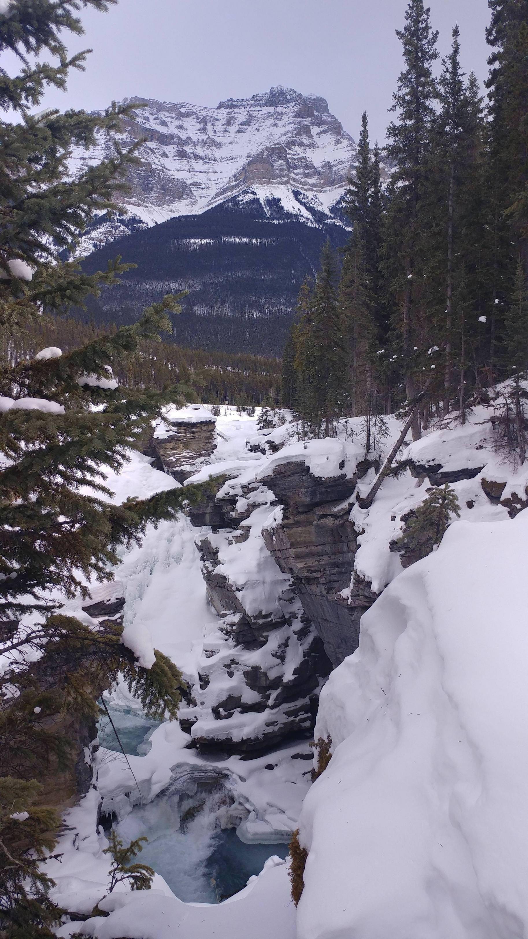 Athabasca falls alberta canada oc 4640x2610 http