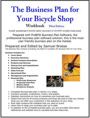 The Business Plan for Your Bicycle Shop Small Business/Self - bicycle repair sample resume