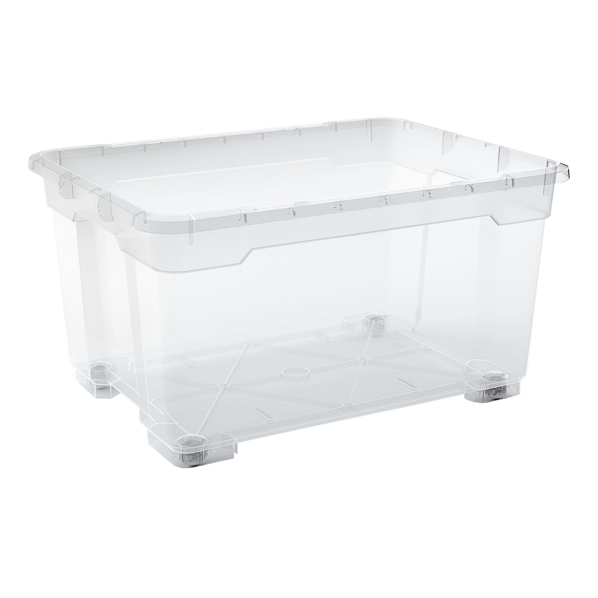 Form FlexiStore Clear 140 L Plastic Storage Box with