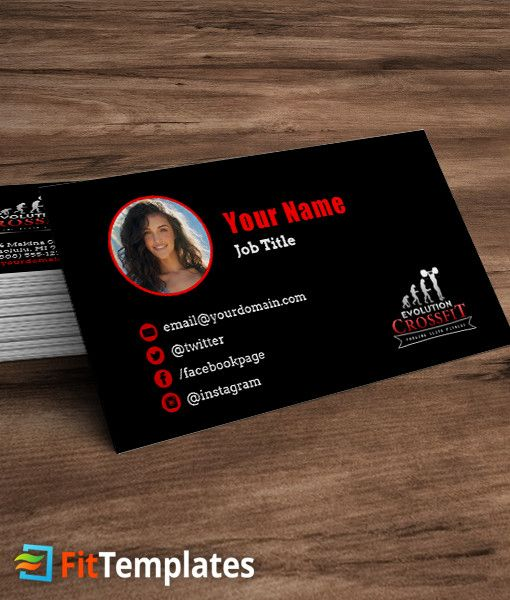 Crossfit box business card template 1 business cards pinterest crossfit box business card template 1 reheart Gallery