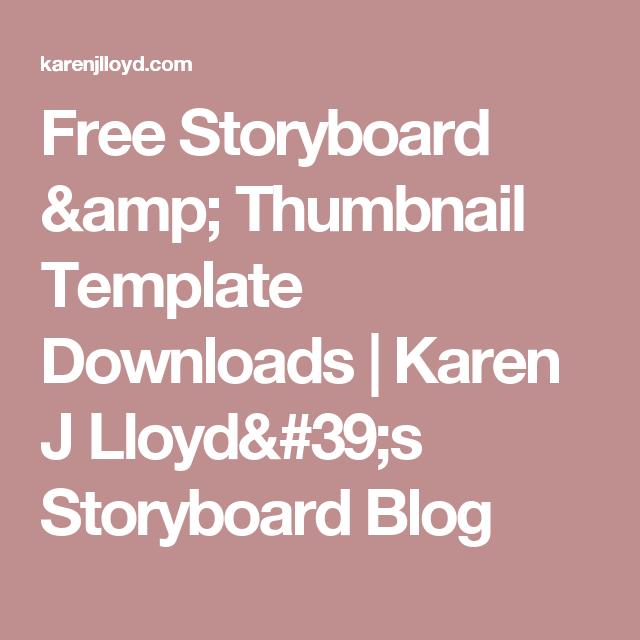 Free Storyboard Thumbnail Template Downloads