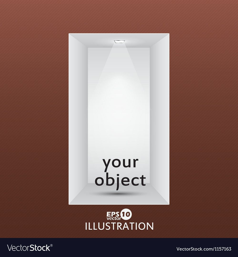 Empty Shelf For Exhibit In The Wall Royalty Free Vector Ad Exhibit Shelf Empty Wall Ad With Images Vector Free Vector Texture Vector