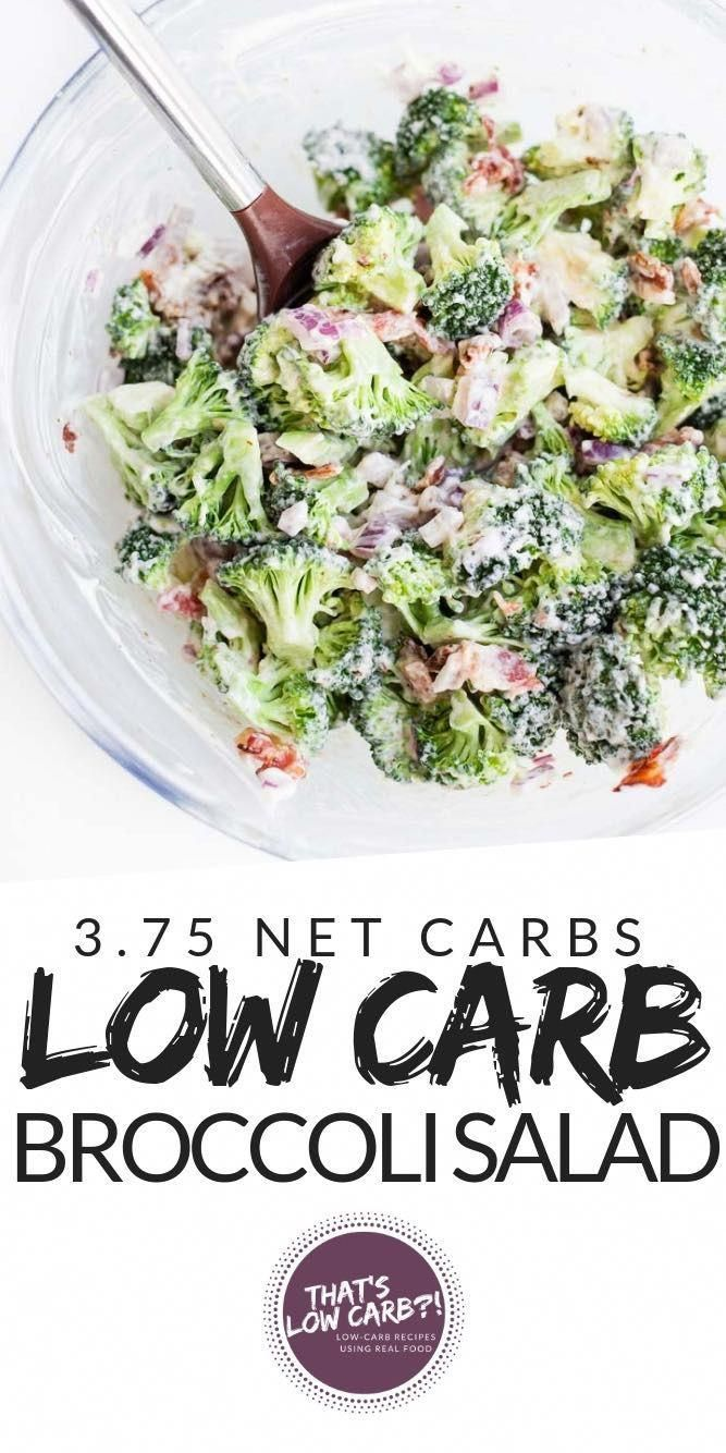 Low Carb Broccoli Salad with BACON! Packed full of flavor and with minimal ingredients this salad is a sure winner! Keto Broccoli Salads for lunch and dinner! Not a bad dish to make for potlucks either... if it can last till then. We devour this!