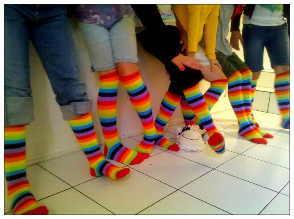 Ramblings Of One CrazeE Mama A Little 10 Year Old Birthday Fun Rainbow Socks Party Favor