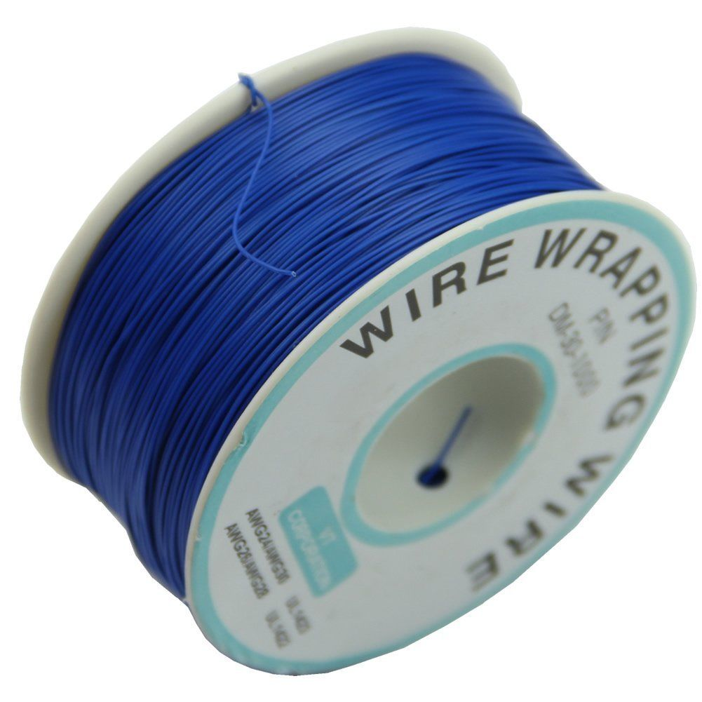 4.01 GBP - 0.25Mm Wire-Wrapping Wire 30Awg Cable 305M (Blue) U4B4 ...
