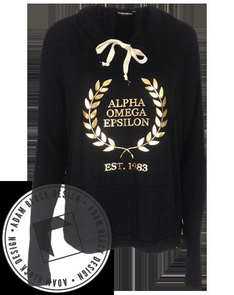 Alpha Omega Epsilon Wreath Flowy Hoody With Images Alpha Omega Epsilon