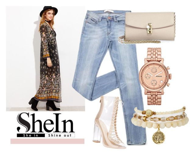 """Sheinside set"" by zafir-i ❤ liked on Polyvore featuring Dolce&Gabbana and FOSSIL"