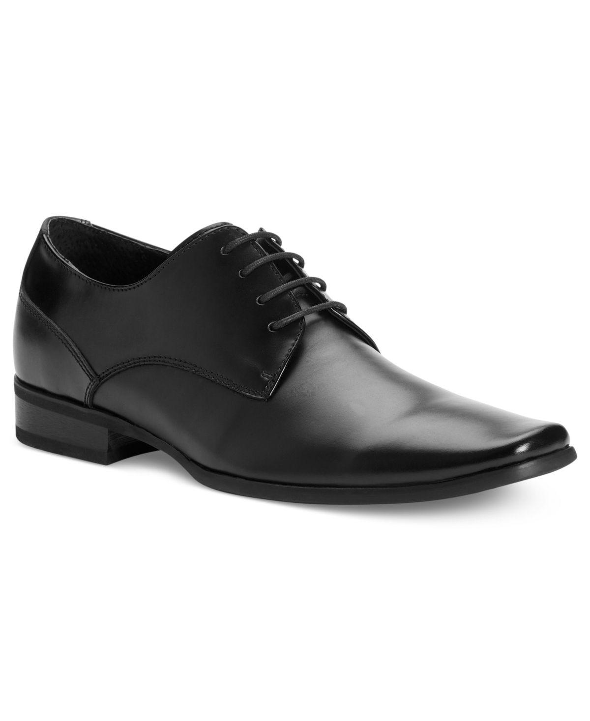 Stacy Adams Mens Black Calhoun Leather Formal Lace Up Trendy Dress Moc Toe Shoe