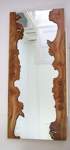 19 espejo con madera rustica decorar con espejos pinterest decoratie interieur en inspiratie - Decoratie interieur bois ...