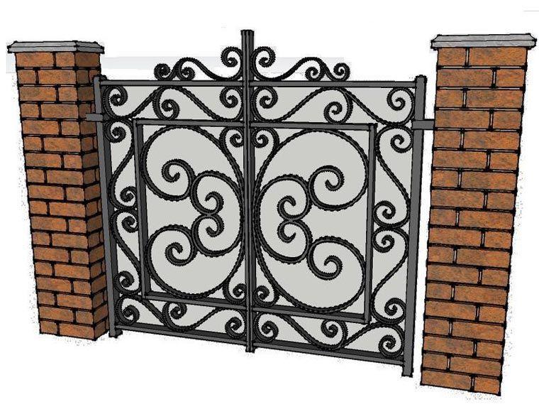 Wrought Iron Gates Casas Jardim