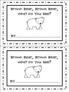 Brown Bear Brown Bear What Do You See Freebie Student Book