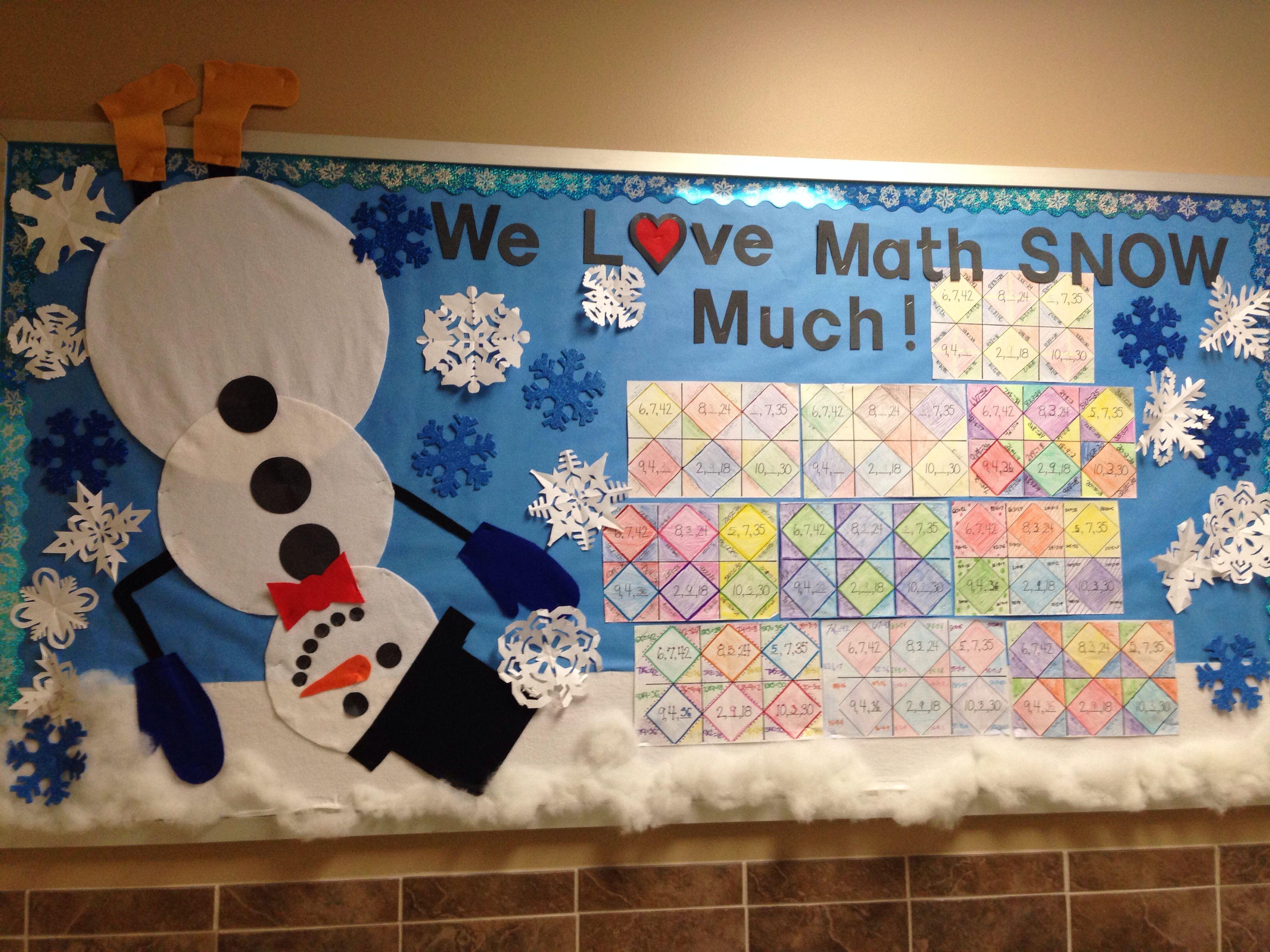 Fun Winter Bulletin Board Originally Saw The Pin As We