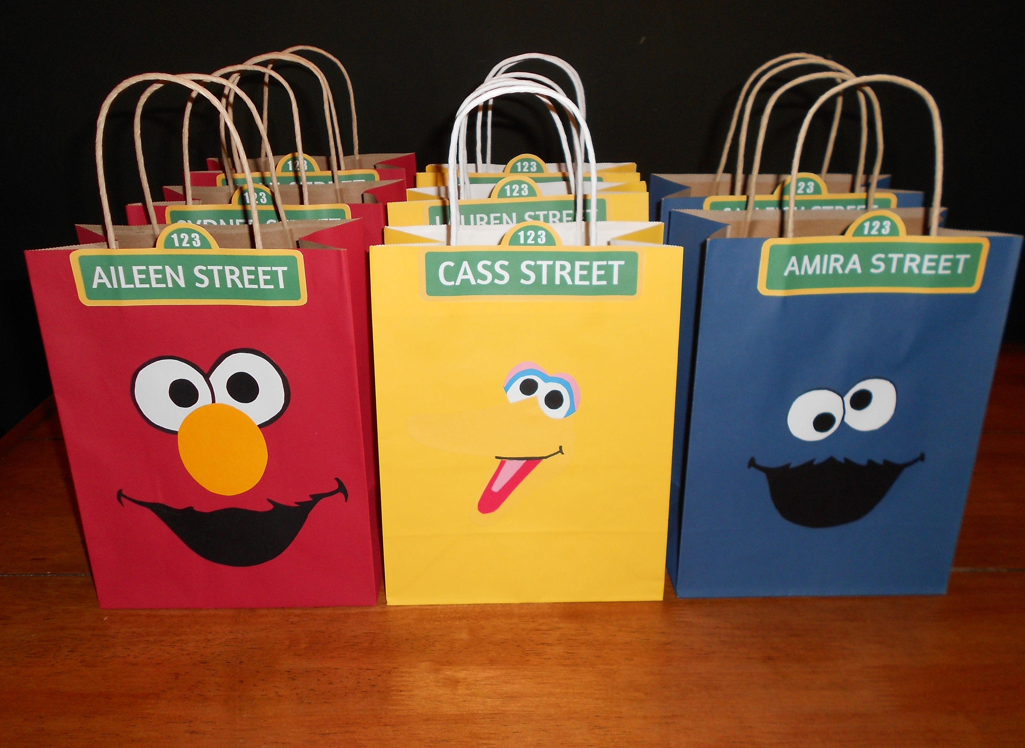 Sesame Street grab bags for the kids Free templates online and