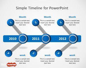simple timeline thkhemplate for powerpoint hgj pinterest
