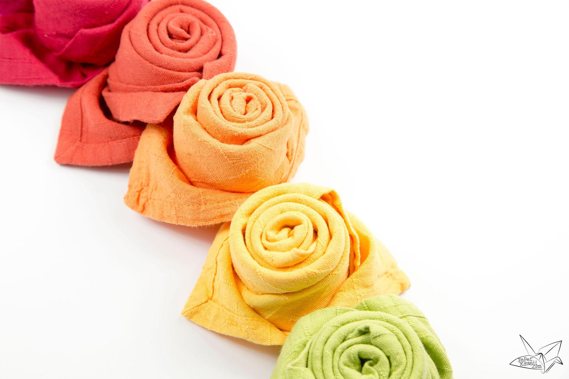 How To Fold A Beautiful Origami Napkin Rose