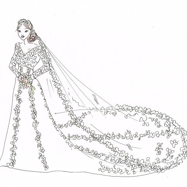 ida sjostedts skiss av brudklanningen ida sjostedt s drawing of the wedding dress