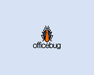 Carte De Visite Cover Design Software Bug Insects Office Logo