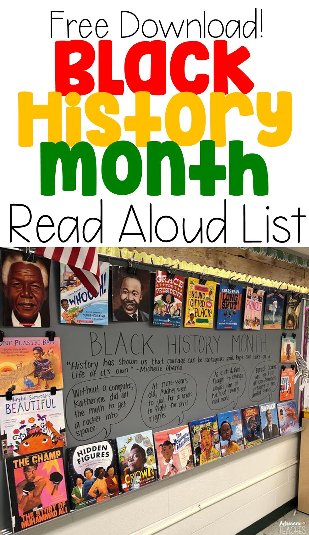 Photo of Black History Month Read Aloud List