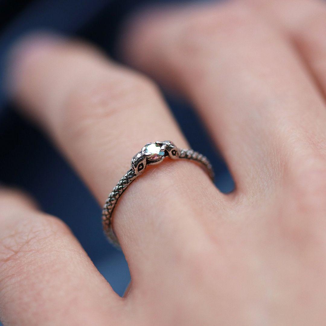 Mystic Snake Princess Sterling Silver Ring // shopdixi.com ...