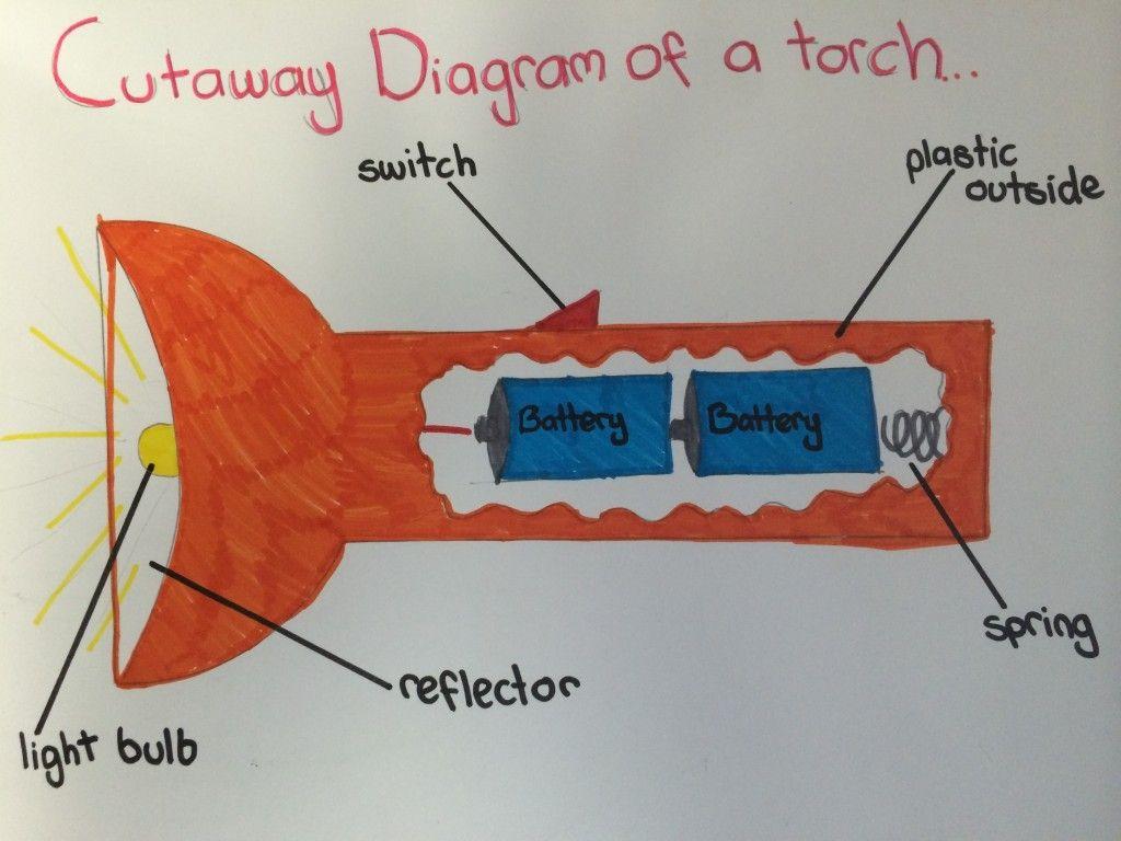 It's electrifying  Cutaway diagram of a torch | Majura