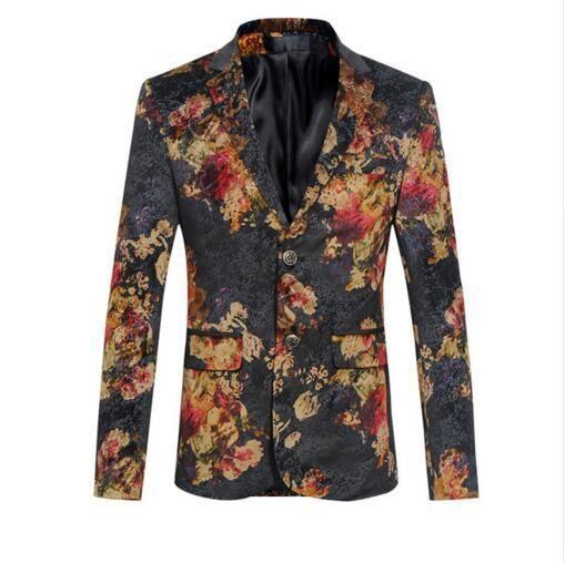 Men Blazer Designs Floral Fashion Printed Casual Suit Latest Coat ...