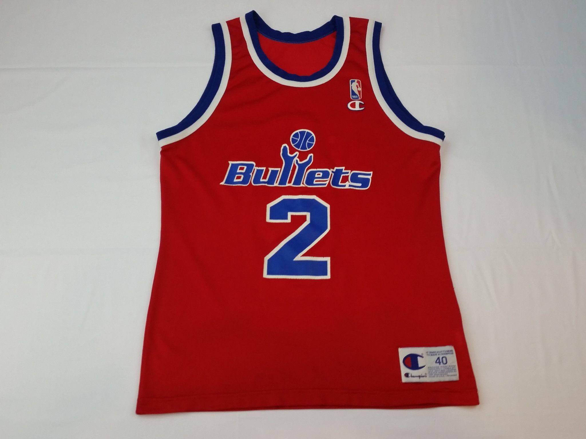 Retro Logo Throwback Bullets Washington Basketball Jersey T-shirt