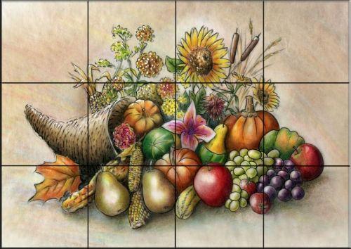 farm scene tile backsplashes tile backsplash ideas fruit tiles cornucopia tile mural