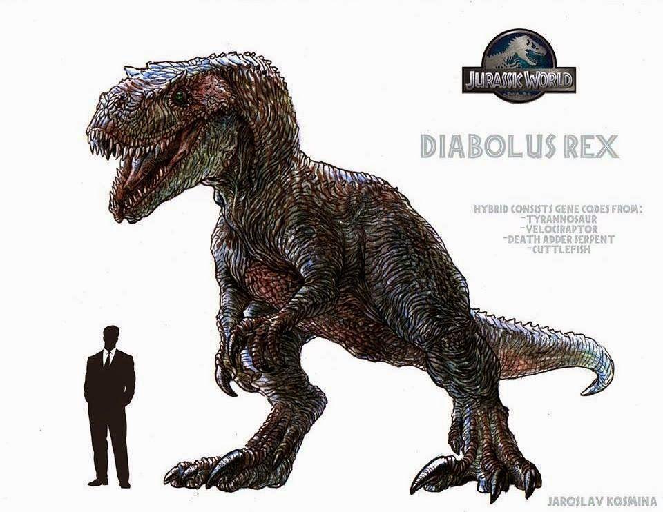 Indominus rex diabolus indominus rex vrai dinosaure ou - Dinosaure jurassic world ...