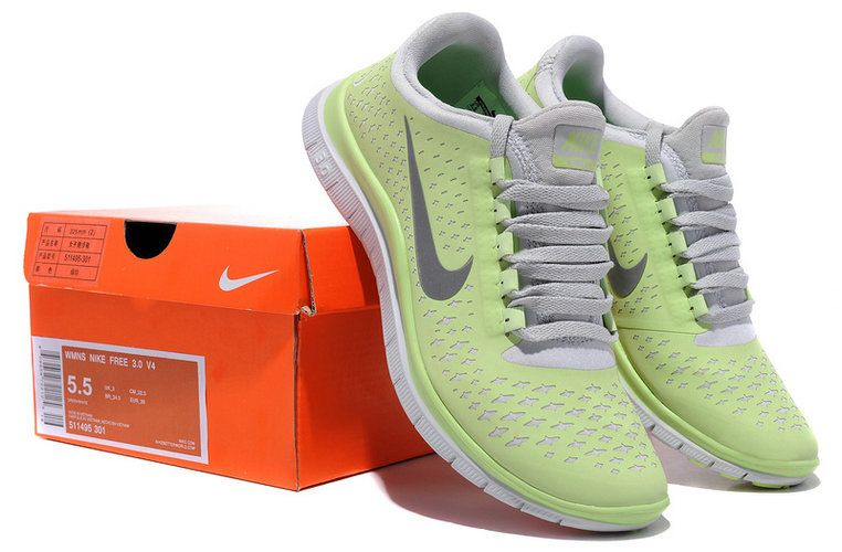 low priced d7241 ee4b7 Nike Free 3.0 V4 Liquid Lime Volt Silver 511495 301