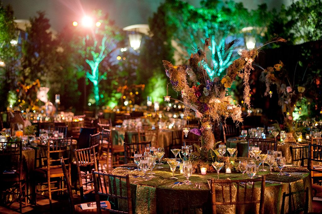 Enchanted forest decorations for wedding 254feinblatt for Decoration theme jardin