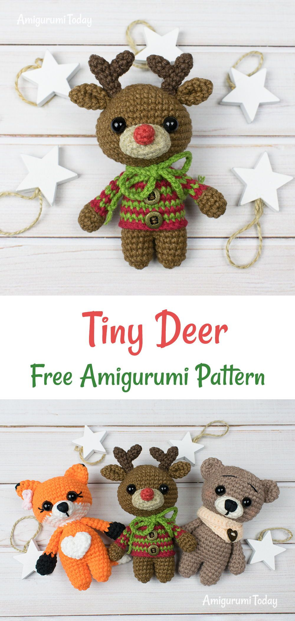 Tiny Deer Amigurumi Pattern Crochet Pinterest Crochet Crochet