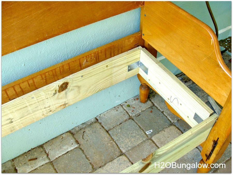 How To Make An Easy Headboard Bench Diy bench, Headboard