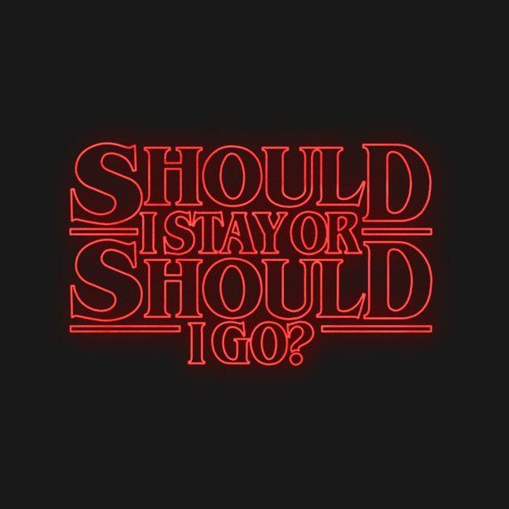 Images - Should i go or should i stay