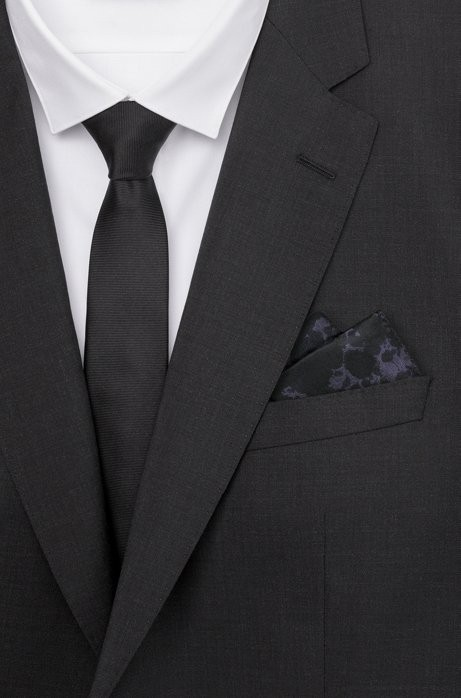 d837a3c6d7 Rorschach Italian Silk Pocket Square by HUGO BOSS | Products ...