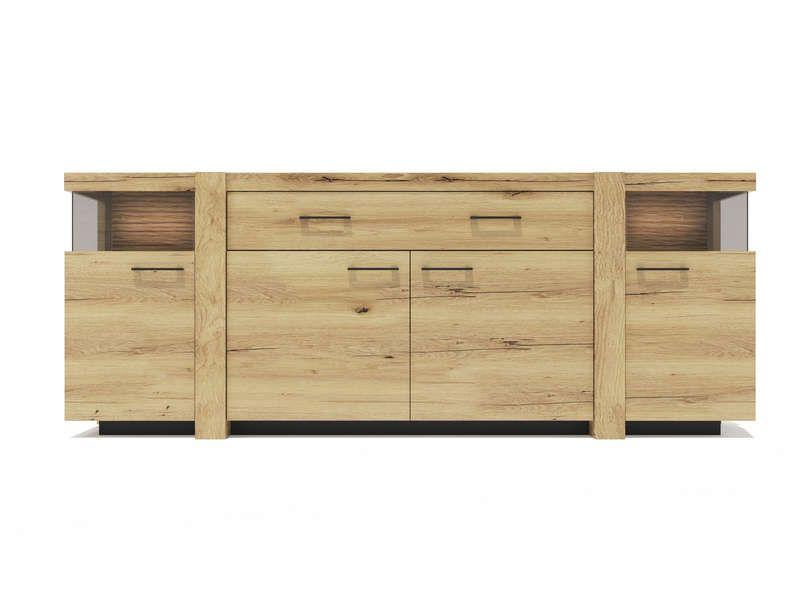 buffet 4 portes mimesis pas cher prix promo buffet conforama ttc au lieu de. Black Bedroom Furniture Sets. Home Design Ideas