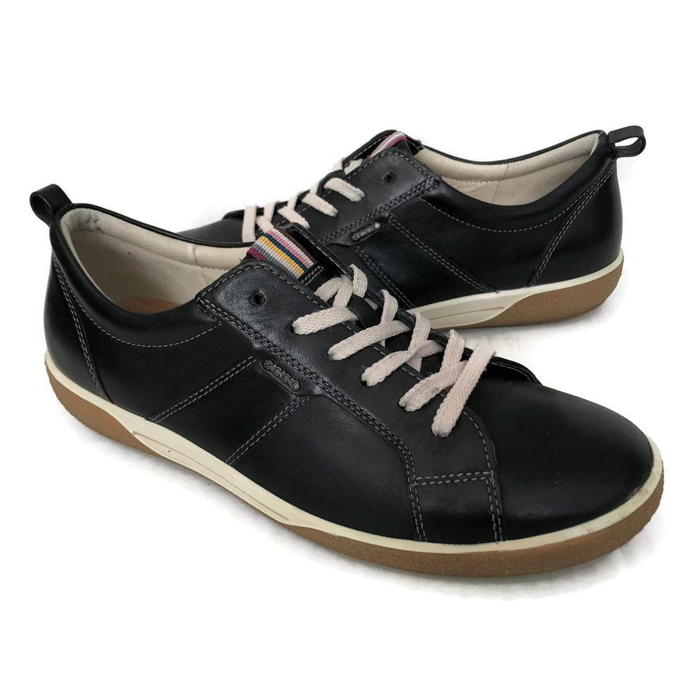 Ecco Chase Tie Sneakers Womens Size Us 9 5 Eu 40 Comfort Shoe Soft Black Leather Schwarzes Leder Sneaker Leder [ 1000 x 1000 Pixel ]