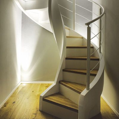 Escalier en colima on marche en bois limon lat ral avec contremarche eli ca 10 rizzi - Escalier colimacon bois ...