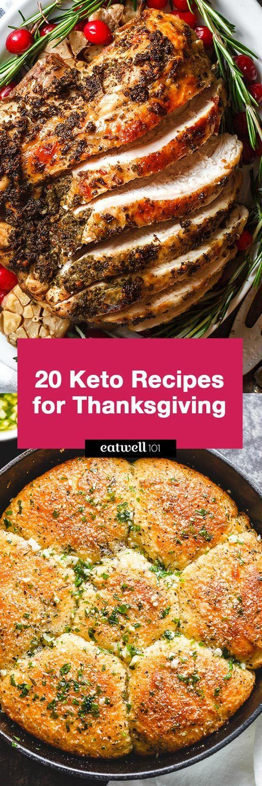 20 Delicious Keto Recipes That Make The Perfect Thanksgiving Dinner! #thanksgivingrecipes
