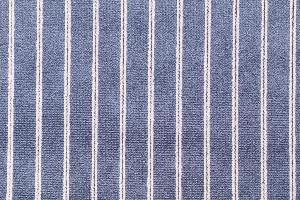 Duralee 71095 Bonheur Velvet Stripe Upholstery Fabric In 206 Navy