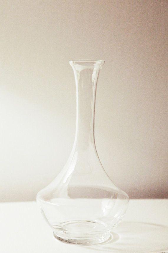 Vintage Modern Bottle Shape Glass Vase Shop Vintage Pinterest
