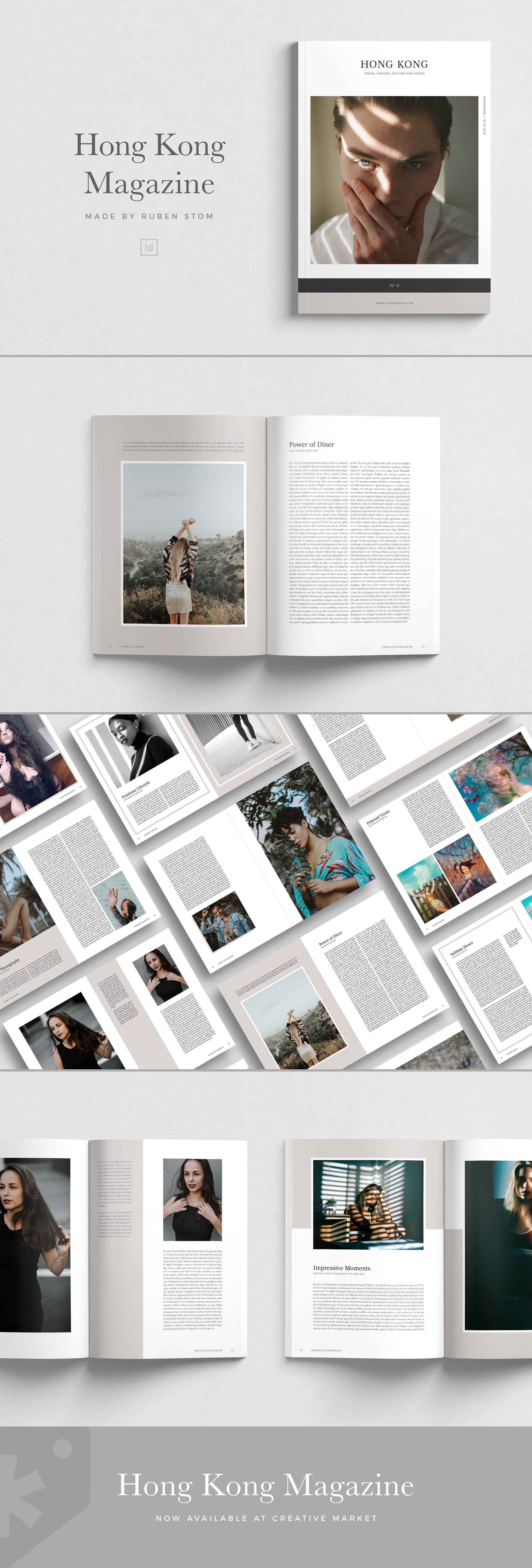 Hong Kong Magazine 100 Pages by Ruben Stom on creativemarket