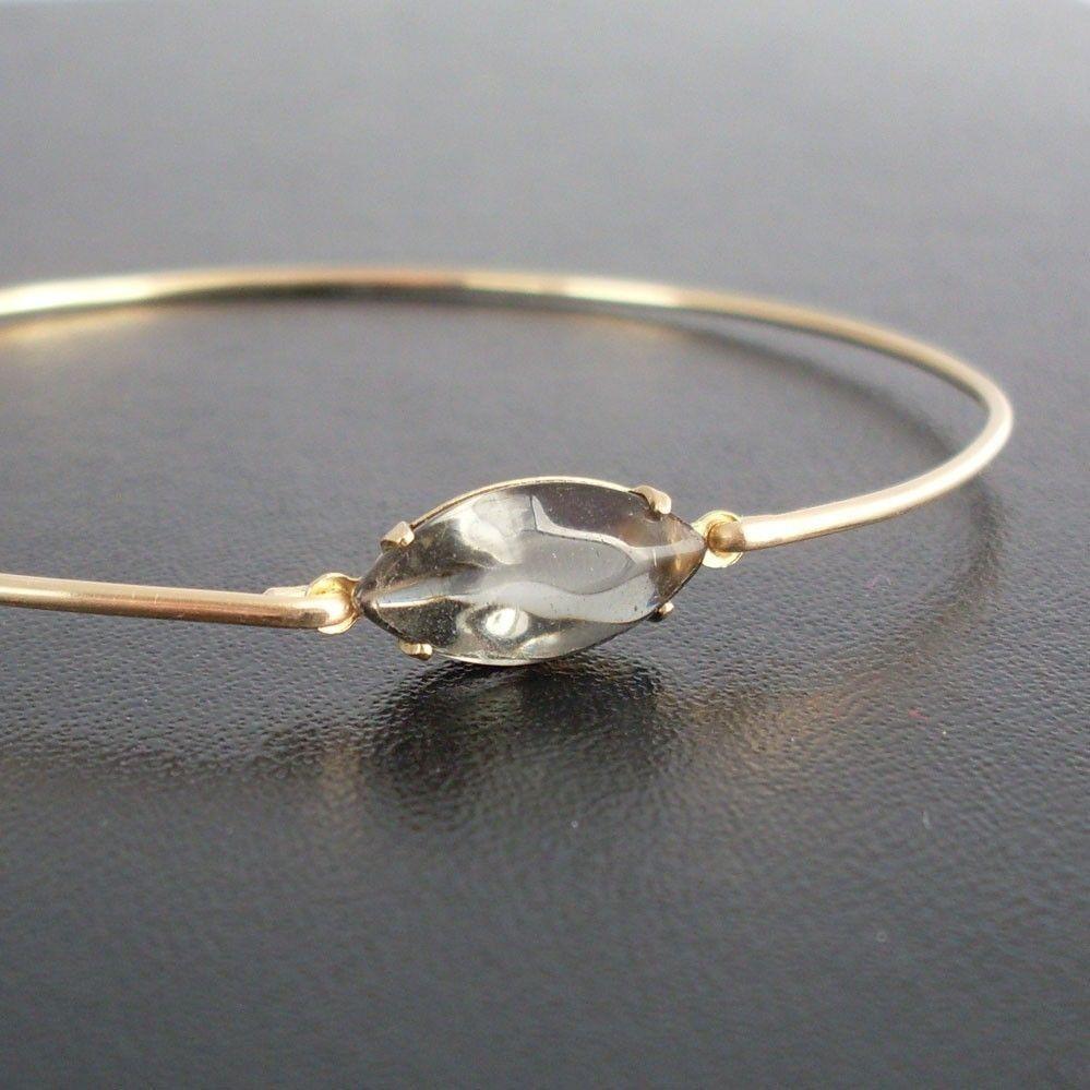 Grey+Bangle+Bracelet+Jinna++Gold+Grey+Bracelet+by+FrostedWillow,+$12.95