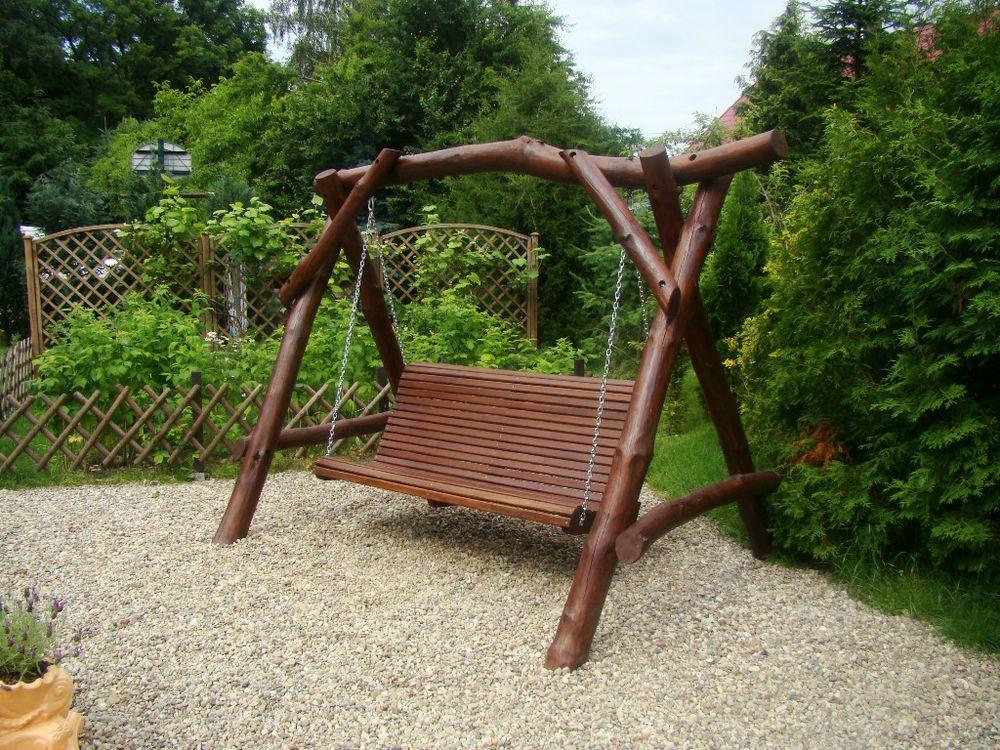 hollywoodschaukel gartenschaukel gartenmöbel naturholz, ibiza 3, Gartenarbeit ideen