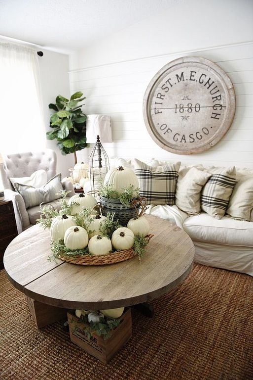 40 Fall Coffee Table Decor Ideas With Rustic Style