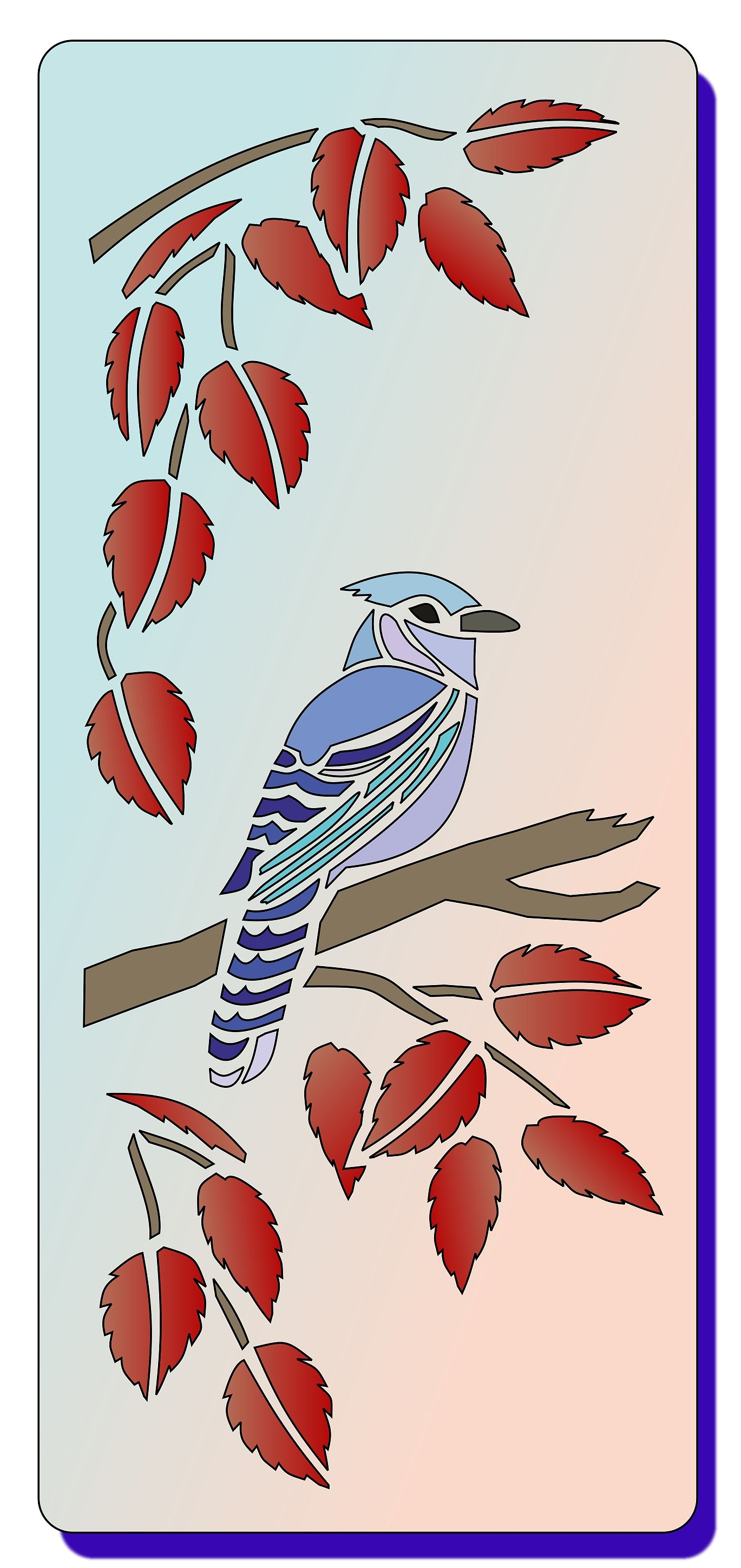 Reusable Stencil which looks Stunning when used with Glitzcrafts
