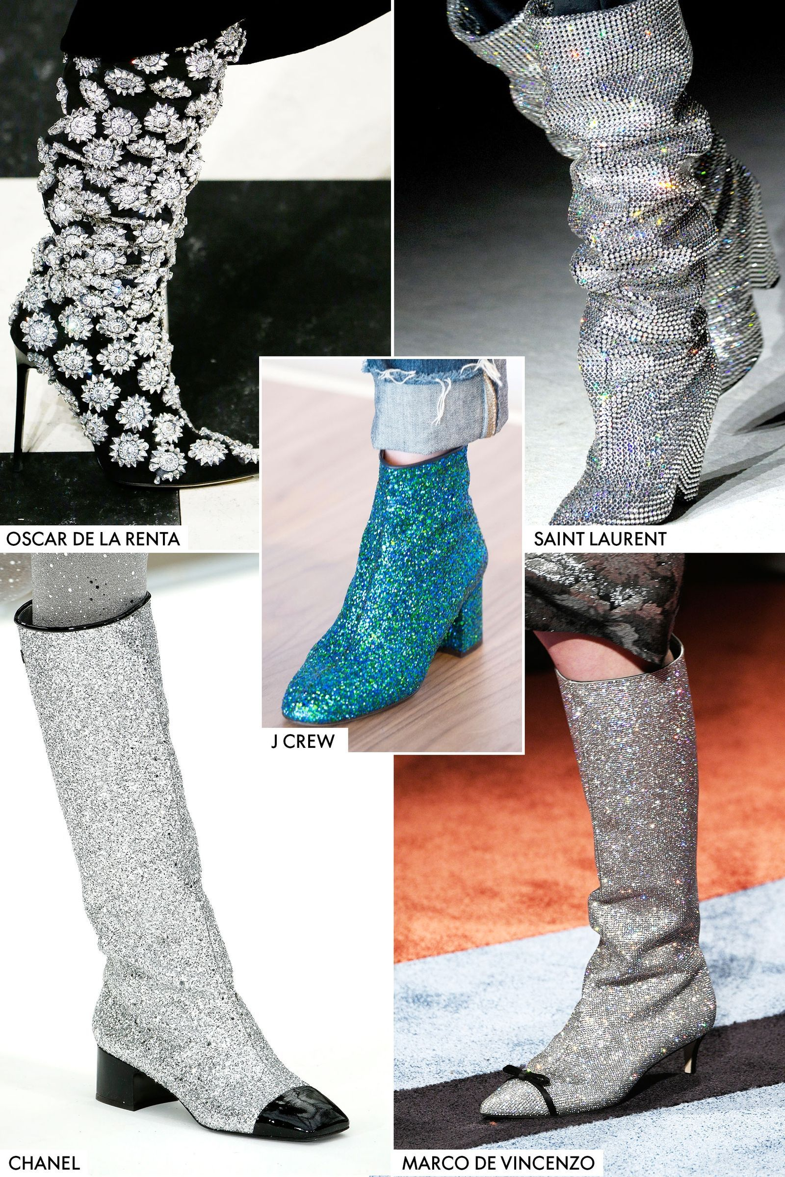 8028848b585 GLITERATTI BOOTS. Sparkle and shine in this fresh boot trench. Chanel's  space age go