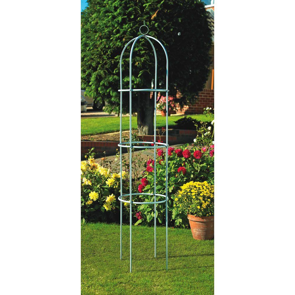 Garden Obelisk Silver Effect 1.8m | Pinterest