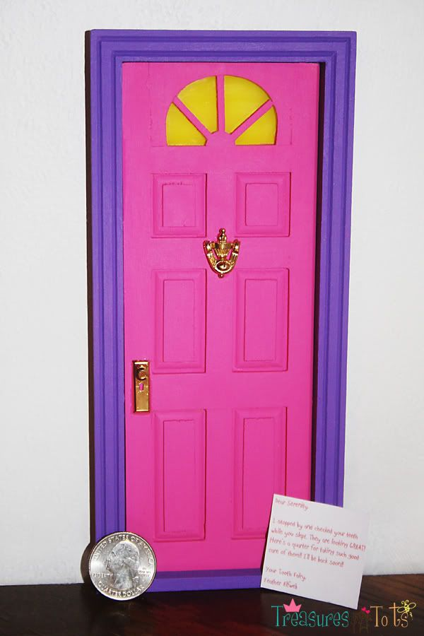 Inspirational tooth fairy door for the boys room obably wont paint it pink and purple though Idea - Latest how to make a door Style